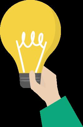 hand holding a bulb